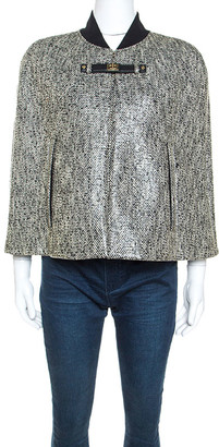 Paule Ka Paul ka Monochrome Tweed Glossy Finish Cape M