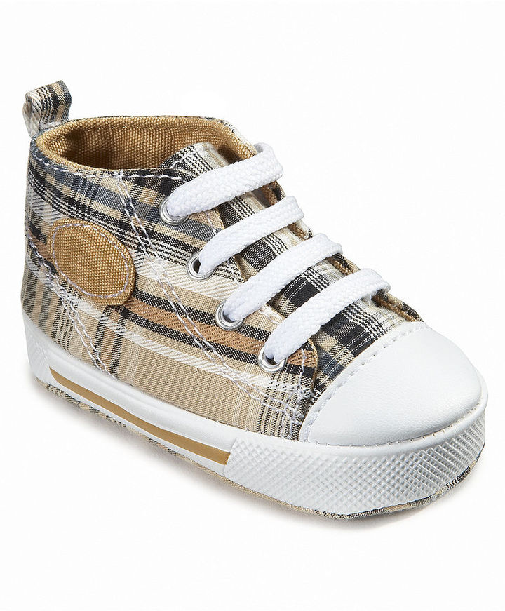 First Impressions Baby Shoes, Baby Boys Plaid High-Top Sneakers