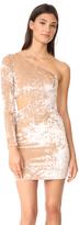 Alice + Olivia Malia Velvet Single Sleeve Mini Dress