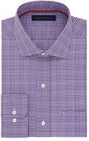 Tommy Hilfiger Men's Non Iron Regular Fit Multi Check Spread Collar Dress Shirt