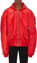 Vetements Men's Tech-Twill Oversized Bomber Jacket-RED