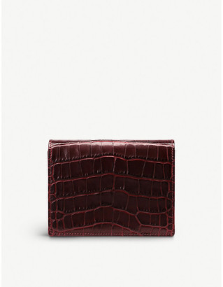Smythson Mara leather bridge card case