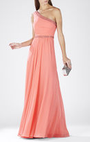 BCBGMAXAZRIA Daniele One-Shoulder Embellished Gown