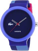 Lacoste Men's Goa 2020042 Silicone Analog Quartz Watch with Dial