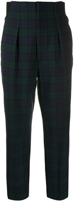 Barena Tartan-Print Slim-Fit Trousers