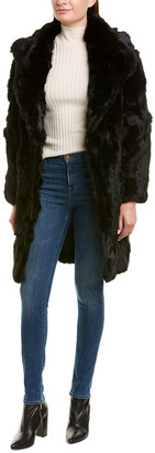 Adrienne Landau Textured Long Coat