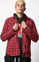 RVCA x Toy Machine Thickness Plaid Flannel Button Up Shirt