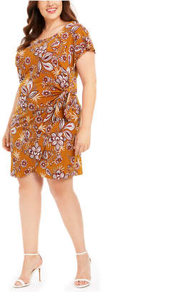 Robbie Bee Plus Size Paisley Flower Sarong Dress