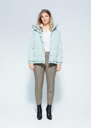 MANGO Violeta BY Slim fit suit pants brown - 10 - Plus sizes