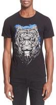 Just Cavalli Men's 'Kaleidoscope Shadow Tiger' Graphic T-Shirt