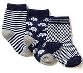 Starting Out Baby Boys 3-Pack Elephant Crew Socks