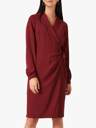 Phase Eight Briella Wrap Dress, Rhubarb