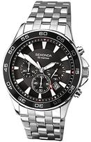 Sekonda 1047.27 Chronograph Date Bracelet Strap Watch, Silver/black