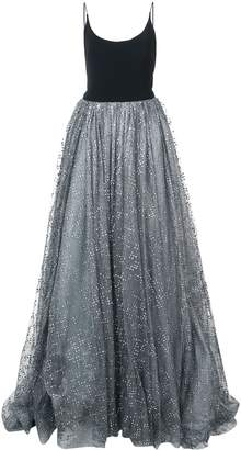 Christian Siriano glitter tulle detail dress