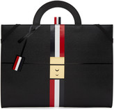 Thom Browne Black Trompe L'Oeil Folio Briefcase