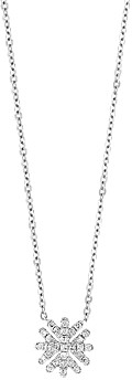 Bloomingdale's Diamond Snowflake Pendant Necklace in 14K White Gold, 0.10 ct. t.w. - 100% Exclusive