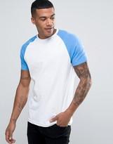 Brave Soul Plain Contrast Sleeve T-shirt