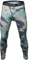 Bifrost Mens Camouflage Sports Running Basketball Compression Tight Leggings Pants(Style: Size:M)
