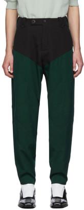 KIKO KOSTADINOV Black and Green Twill Rhombus Trousers