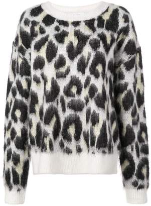 Designers Remix textured leopard print jumper