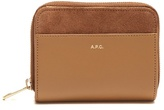 A.P.C. Claire zip-around leather and suede wallet