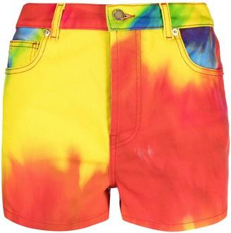Alexandre Vauthier Tie-Dye Denim Shorts