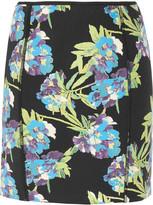 Scuba floral-print neoprene mini skirt