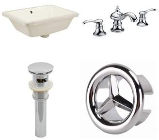 American Imaginations CUPC Ceramic Rectangular Undermount Bathroom Sink with Faucet and Overflow Sink Finish: Biscuit