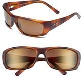 Maui Jim Men's 'Ikaika - Polarizedplus2' 64Mm Sunglasses - Matte Black Grey