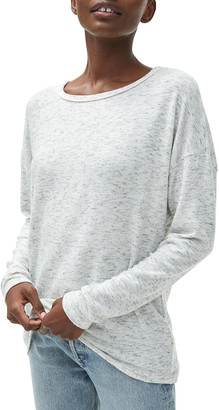 Michael Stars Dina Boat-Neck Top with Contrast Piping