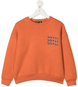 DUOltd So Fly-print rib-trimmed sweatshirt