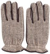Orciani Leather And Wool Beige Gloves