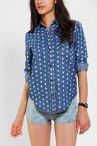 BDG Polka Dot Button-Down Denim Shirt