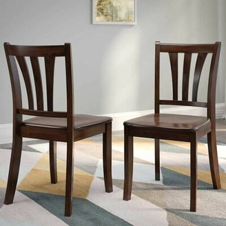 Pico Modern Solid Wood Slat Back Side Chair Alcott Hill Finish: Cappuccino