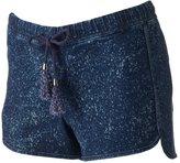 Rampage Juniors' Speckled Denim Shortie Shorts