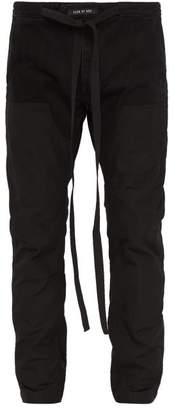 Fear Of God Technical Panel Drawstring Cotton Trousers - Mens - Black