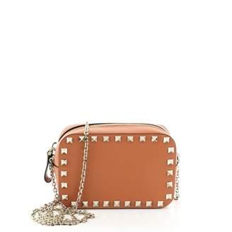 Valentino Rockstud Orange Leather Handbags