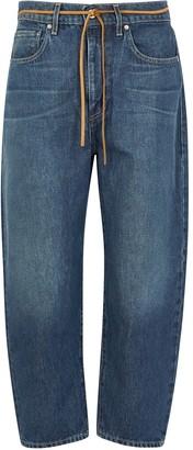 Levi's Barrel Blue Cropped Boyfriend Jeans