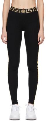 Versace Underwear Black Greca Border Leggings