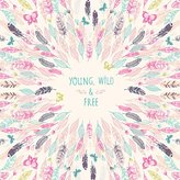 """Oopsy Daisy Fine Art For Kids Young Wild & Free by Bethan Janine - Paper Art Prints, 19""""x19"""""""