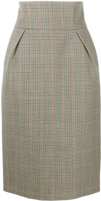 Alexandre Vauthier High-Waist Plaid Skirt