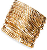 Thumbnail for your product : Jules Smith Designs Gold-Plated Ridged Bangles (Stylist Pick!)