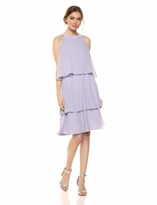 Cupcakes And Cashmere Women's Livia Tiered Ruffle Chiffon Dress