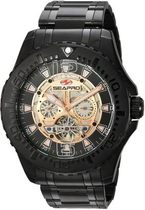 Seapro Men's SP3313 Tidal PX1 Analog Display Automatic Self Wind Black Watch