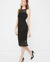White House Black Market Mixed Lace Sheath Dress
