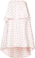 Kage dot patterned layered tube dress
