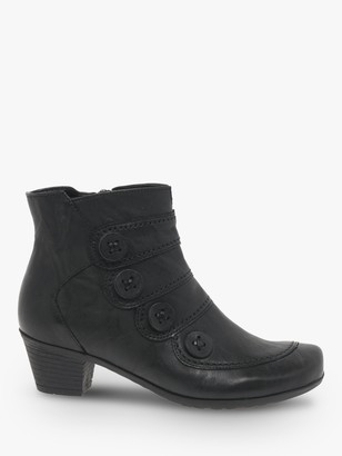 Gabor Georgie Leather Block Heeled Ankle Boots