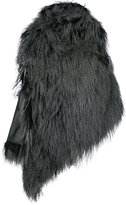 Ann Demeulemeester one shoulder fur coat