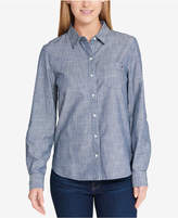 Tommy Hilfiger Core Striped Roll-Tab Shirt, Created for Macy's