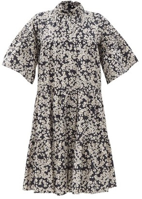 Merlette New York Astell Floral-print Cotton-poplin Dress - Black Print